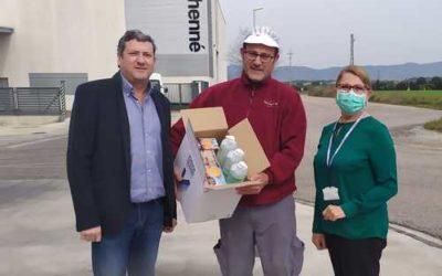 Mare Terra colabora en la donación de SiglHogar de dispositivos de desinfección